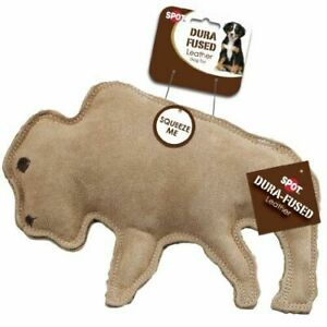 Dura-Fused Leather Dog Toy Buffalo Tan Large   Free Shipping