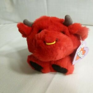 BRUNO - the red bull - PUFFKINS - 1997 - by Swibco - Mint