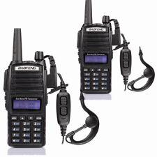 2x Baofeng UV-82L DOPPIO PTT Dual Band DTMF V/UHF 5W Radio PMR RICETRASMITTENTE
