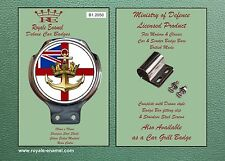 Royale voiture scooter bar badge + raccords-royal navy ensign & ancre-B1.2050