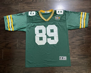 Vintage Starter Mark Chmura #89 Green Bay Packers Jersey Mens 48 Super Bowl Vtg