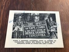 More details for harry y geoffrey cauldwell ! signed card 1947 (cycling ) halfway point !