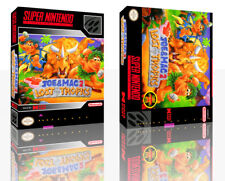 Joe & Mac 2: Lost in the Tropics SNES Replacement GAME CASE BOX + COVER Inlay