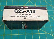 Sunnen Stone Set G25 A43 9d 150 Grit Aluminum Oxide Portable Hone Honing 25 27