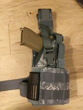 Glock 19X 19 🇺🇸 USA Holster Heavy Canvas Leg Drop Camouflage Molle with Flag
