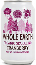 WHOLE EARTH | Organic Natural Cranberry 330ml (24 Cans) | FREE DELIVERY