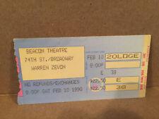 Warren Zevon Concert Ticket Stub 2-10-1990