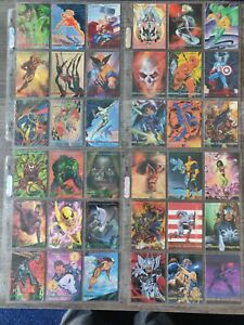 1993 Marvel Masterpieces Complete Set with X-men 2099 Dyna-Etch Chase Set