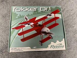 Flyzone Fokker Dr.I  Tri-plane VERY RARE Ultra micro RC Airplane  READY TO FLY