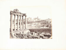 BEAUTIFUL ALBUMEN PHOTO OF THE FORUM - ROME, ITALY