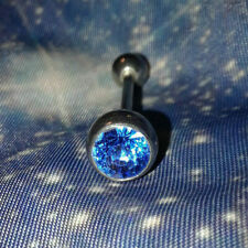 Sparkly Blue Costume Body Jewlery Stainless Steel