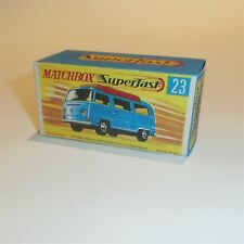 Matchbox Lesney Superfast 23 VW Volkswagen Camper empty Repro G style Box