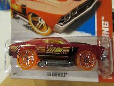 Hot Wheels '69 Chevelle HW Racing Clear Red