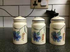 Burleigh Ware Imperial Cornflower. Salt And Pepper Pots. 1930's Hand Painted