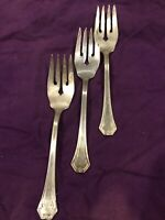 3 Reed & Barton POMPEIAN Silverplate 1930 Silverware Flatware Salad Forks