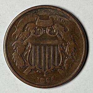 1864 US Two Cent Piece 183628D