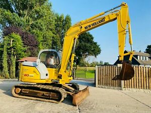 NEW HOLLAND KOBELCO E80MSR TRACKED EXCAVATOR * YEAR 2006 , ONLY 3728 HOURS *