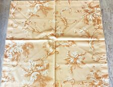 HIGH QUALITY COTTON FLORAL TAN ORANGE PLACE TABLECOTH NAPKINS SET OF 6