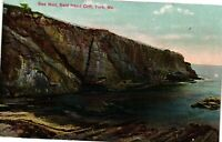 Vintage Postcard - Sea Wall Bald Head Cliff York Maine ME Posted 1913  #993