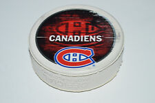 MONTREAL CANADIENS Souvenir Logo Printed on WHITE COLORED HOCKEY PUCK Rare