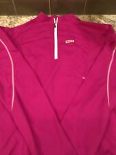 Louis Garneau Womens Long Sleeve Cycling Jersey With Half Zipper Size L