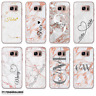 NAME INITIALS MARBLE PERSONALISED PHONE CASE HARD COVER FOR SAMSUNG GALAXY
