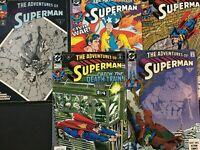 THE ADVENTURES OF SUPERMAN. 474.481.483.492.498  (5 ISSUE LOT.)  DC. 1991-93