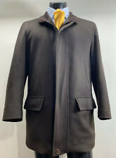 Ermenegildo Zegna 100% Cashmere Brown Top Coat Jacket Men's M Made In Italy
