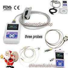 CE FDA Finger Pulse Oximeter blood oxygen 3 probes Adult/Infant/Child USB PC SW