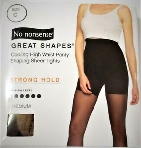 No Nonsense Great Shapes Lightweight Control Shaping Sheer Tights Strong Hold C
