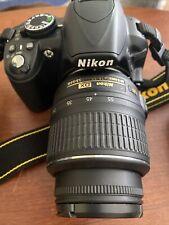 Nikon D D3100 14.2MP Digital SLR Camera Black-2 Nikon Lens 18-55 70-300 Charger