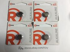 Lot of (4) RadioShack Alkaline 625 Batteries, 1.5V 190 mAh 2302439 Ships FREE