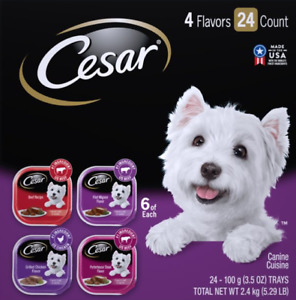 4 Flavors Canine Cuisine Dog Food 3.5 oz 24 count