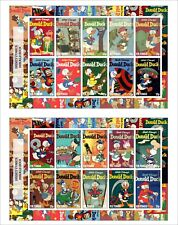 2017 DISNEY DONALD DUCK 4 SOUVENIR SHEETS animation comics