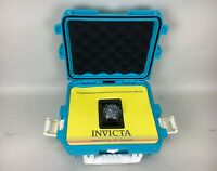 Invicta Vintage Men's Watch Leather Band 18721 Limited Edition Blue Dive Case