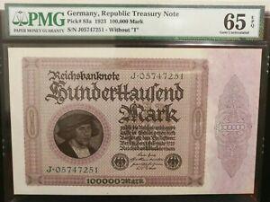 GERMANY Rep. Treasury Note  1923 PMG65 EPQ