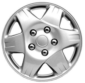 """QUALITY 13"""" GEARX WHEEL COVERS SILVER PAREAS SET OF 4"""
