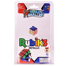 World's Smallest Classic Game RUBIK'S CUBE METALLIC 40TH ANNIVERSARY Miniature