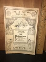 Vintage Program Castle Square Theater May 4, 1908. The Players