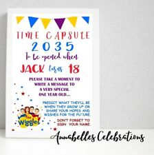 Wiggles First Birthday 1st Time Capsule Print Party Decoration Capture Memories
