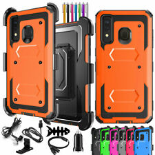 For Samsung Galaxy A50 A30 A20 Heavy Duty Hard Cover Case Belt Clip+ Accessories
