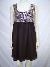 Vertigo Brown Sequin Sleeveless Party Dress Juniors Size Medium 7 9