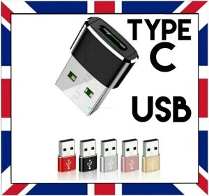 USB-C TYPE C FEMALE TO USB MALE ADAPTER for TABLET SAMSUNG LAPTOP PC MOBILE etc.