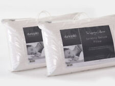 Pair of Dunlopillo Serenity Delux Latex Slim Pillow Naturally Hypo Allergenic -