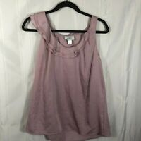 NWT Loft Ann Taylor Purple Women's Size: M Scoop Neck Solid Sleeveless Blouse