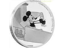2 $ Dollar Disney Mickey MousePlane Crazy Niue Island 1 oz Silber 2016