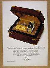1979 Omega Quartz Chronometer astronaut Scott Carpenter watch photo vintage Ad