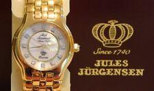 JULES JURGENSEN Ladies 12 DIAMOND Gold Tone MOP Dress Watch NOS Retail $400