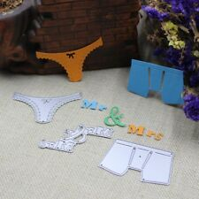 Metal Die Cutter Handmade Wedding Card Mr & Mrs Pants Panties Die Cutter A1264