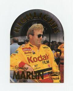 Sterling Marlin 1996 Zenith Highlights Die Cut Foil Stamped Insert Card Pinnacle
